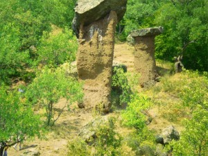 Каменные грибы в Крыму