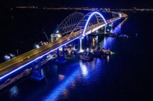 Керченский мост ночью